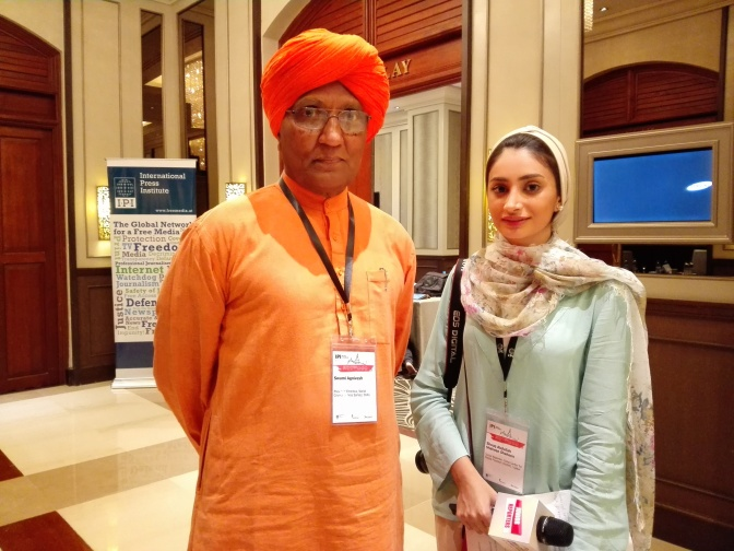 Junior reporter interviews Swami Agnivesh